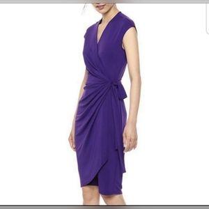 Lark & Ro Purple Wrap Dress SZ M